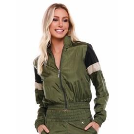 Jaqueta Rihana Vestem Verde Militar