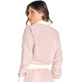 Jaqueta Vestem Bicolor Romance Rosa