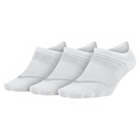 Kit 3 Pares Meias Femininas Nike Lightweight Footie Branca