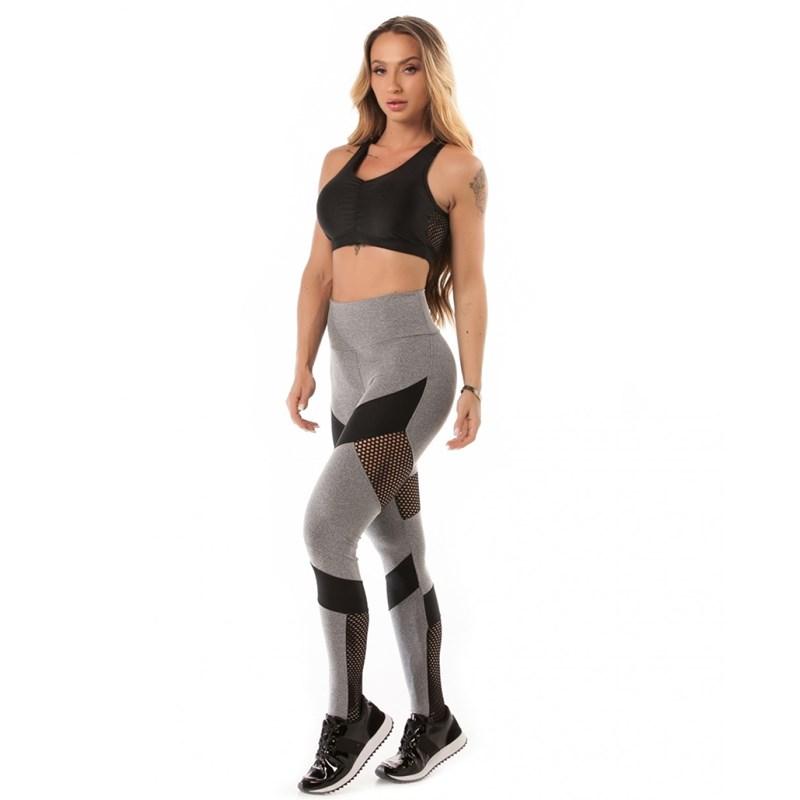 Legging Let'sGym Melange Sport Mescla