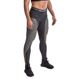 LEGGING ULTIMATE 2.0 COMPRESSION PRETO E LARANJA LABELLAMAFIA