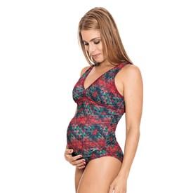 Maiô Adulto Speedo New Maternity Cozy Geometric Estampado