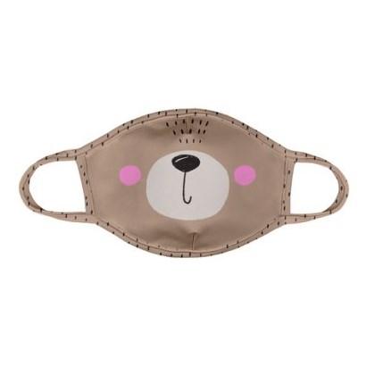 Máscara Infantil Protector Ursinho Rosa