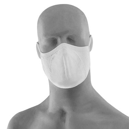 Máscara Microfibra Lupo Kit com 2 Unidades Branca