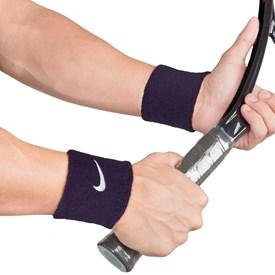 Munhequeira Curta Nike Swoosh Wristband Azul Marinho