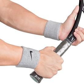 Munhequeira Curta Nike Swoosh Wristband Cinza