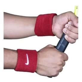 Munhequeira Curta Nike Swoosh Wristband Vermelha