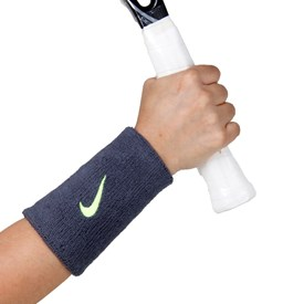 Munhequeira Longa Nike Swoosh Wristband Azul Marinho