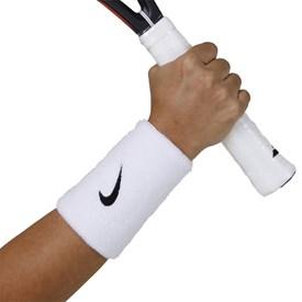 Munhequeira Longa Nike Swoosh Wristband Branca