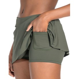 Saia Shorts Feminina Live Sense Essential Verde