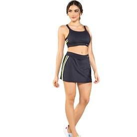 Saia Shorts Feminina Manly Preta