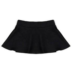 Saia Shorts Infantil Boca Grande Preta