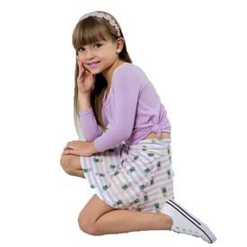 Saia Shorts Infantil LeFruFru Abacaxi