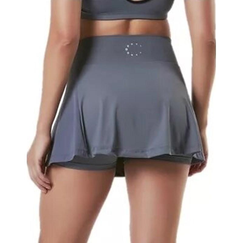 Saia Shorts La Clofit Fly Go Cinza