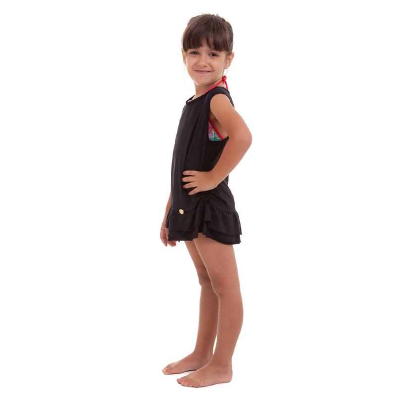 SAÍDA DE PRAIA INFANTIL PRETO BEST FIT