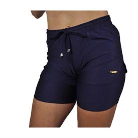 Shorts Best Fit Cooper Duplo Azul marinho