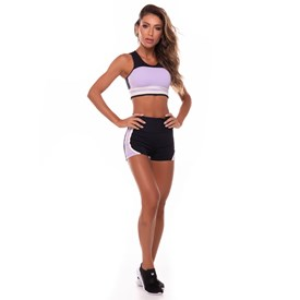 Shorts Feminino Vestem Bicolor Lilás