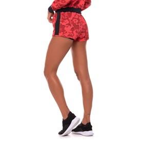 Shorts Feminino Vestem Peace Camuflado Vermelho