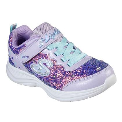 Tênis Skechers Infantil Glimmer  Kicks Glitter Lilás