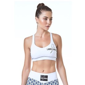 TOP LABELLAMAFIA PRISMA BRANCO