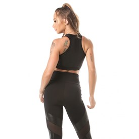 Top Let'sGym Action Glam Preto