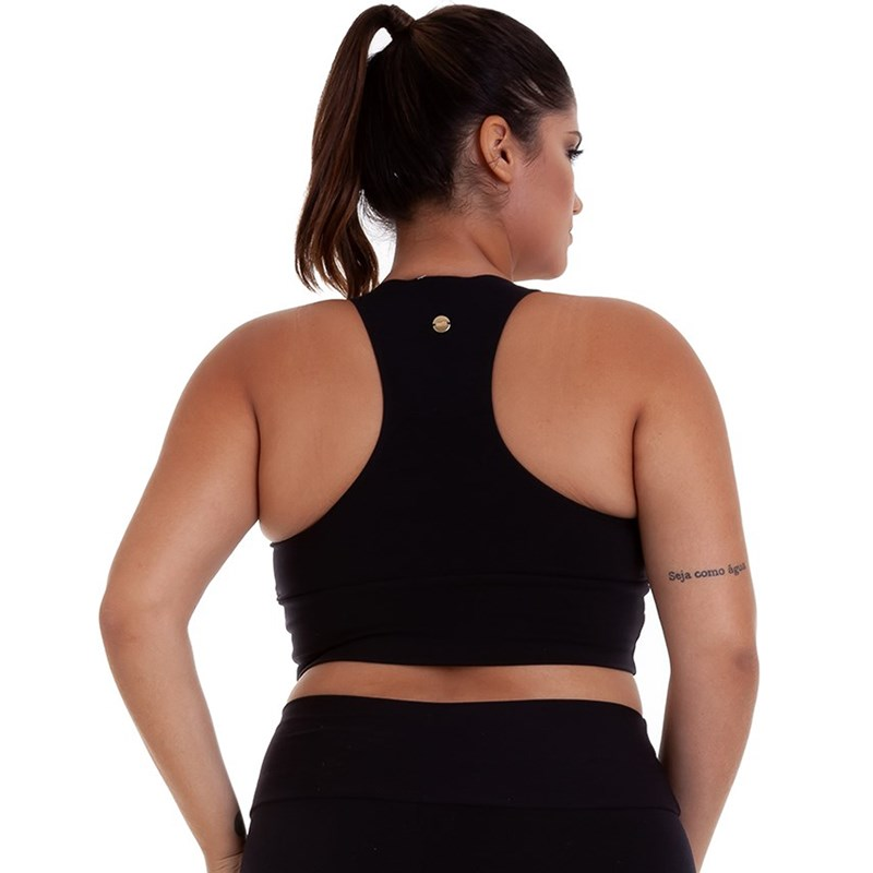 TOP PLUS SIZE SUPLEX BASICO PRETO BEST FIT