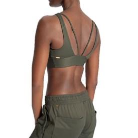 Top Strappy Wellness Essential Live Verde Militar