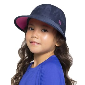 Viseira Uv Line Nice Infantil Azul Marinho