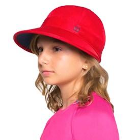 Viseira Uv Line Nice Infantil Vermelha